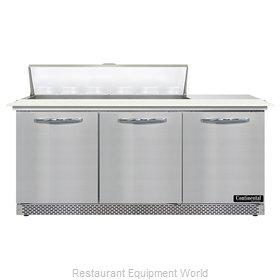 Continental Refrigerator SW72N12C-FB Refrigerated Counter, Sandwich / Salad Unit