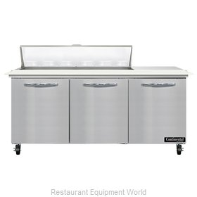 Continental Refrigerator SW72N12C Refrigerated Counter, Sandwich / Salad Unit