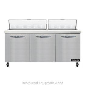Continental Refrigerator SW72N18 Refrigerated Counter, Sandwich / Salad Unit