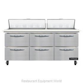 Continental Refrigerator SW72N18C-D Refrigerated Counter, Sandwich / Salad Unit