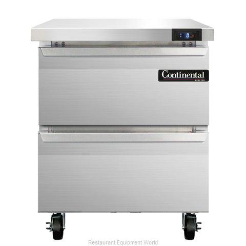 Continental Refrigerator SWF27-BS-D Freezer Counter, Work Top