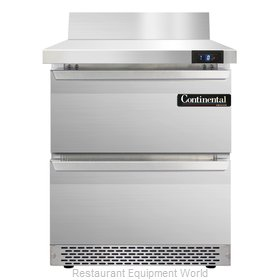 Continental Refrigerator SWF27-BS-FB-D Freezer Counter, Work Top