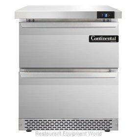 Continental Refrigerator SWF27-FB-D Freezer Counter, Work Top