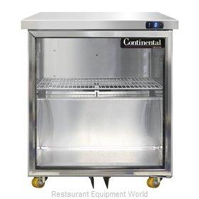 Continental Refrigerator SWF27-GD-U Freezer, Undercounter, Reach-In