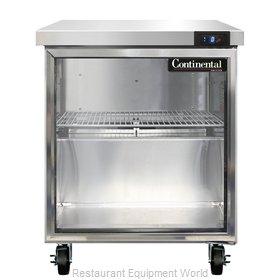 Continental Refrigerator SWF27-GD Freezer Counter, Work Top
