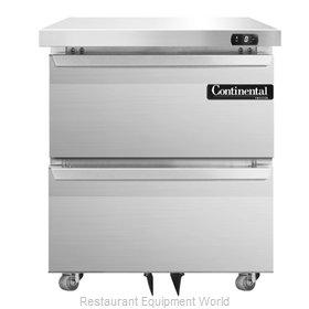 Continental Refrigerator SWF27-U-D Freezer, Undercounter, Reach-In