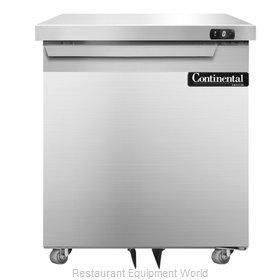 Continental Refrigerator SWF27-U Freezer, Undercounter, Reach-In