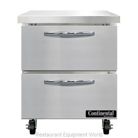 Continental Refrigerator SWF27N-D Freezer Counter, Work Top