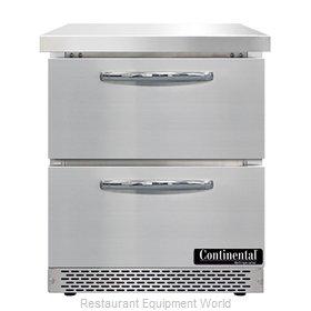 Continental Refrigerator SWF27N-FB-D Freezer Counter, Work Top