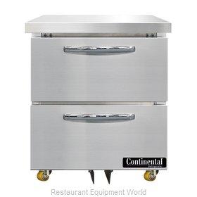 Continental Refrigerator SWF27N-U-D Freezer, Undercounter, Reach-In