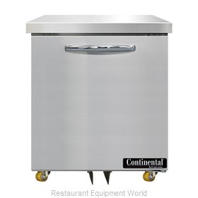 Continental Refrigerator SWF27N-U Freezer, Undercounter, Reach-In