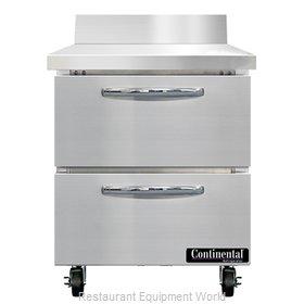 Continental Refrigerator SWF27NBS-D Freezer Counter, Work Top