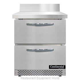 Continental Refrigerator SWF27NBS-FB-D Freezer Counter, Work Top