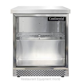 Continental Refrigerator SWF27NGD-FB Freezer Counter, Work Top