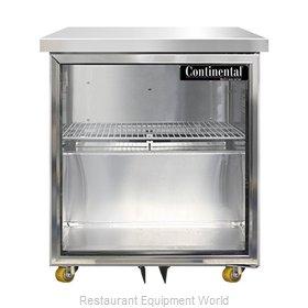 Continental Refrigerator SWF27NGD-U Freezer, Undercounter, Reach-In