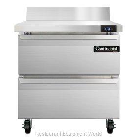 Continental Refrigerator SWF32-BS-D Freezer Counter, Work Top
