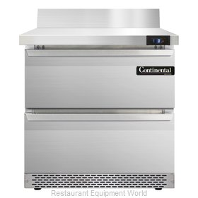 Continental Refrigerator SWF32-BS-FB-D Freezer Counter, Work Top