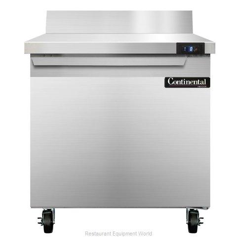 Continental Refrigerator SWF32-BS Freezer Counter, Work Top