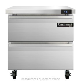 Continental Refrigerator SWF32-D Freezer Counter, Work Top