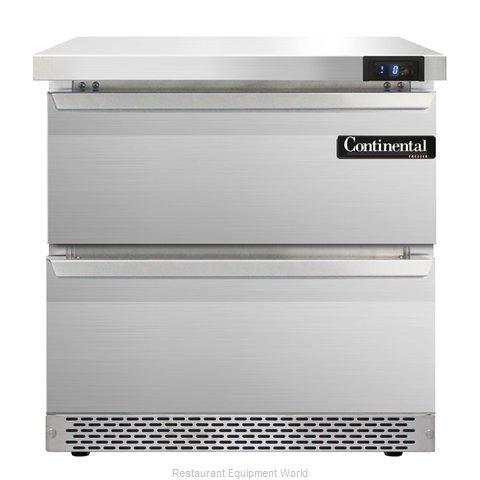 Continental Refrigerator SWF32-FB-D Freezer Counter, Work Top