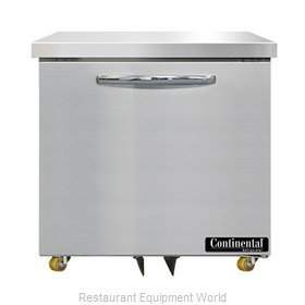 Continental Refrigerator SWF32N-U Freezer, Undercounter, Reach-In