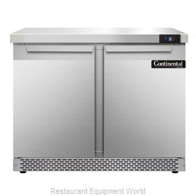 Continental Refrigerator SWF36-FB Freezer Counter, Work Top
