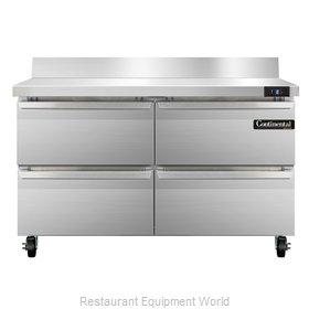 Continental Refrigerator SWF48-BS-D Freezer Counter, Work Top