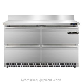 Continental Refrigerator SWF48-BS-FB-D Freezer Counter, Work Top