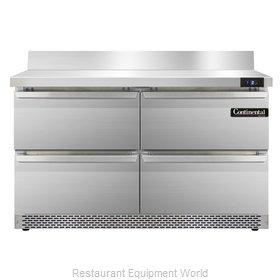 Continental Refrigerator SWF48-BS-FB-D Freezer Counter, Work Top