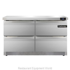 Continental Refrigerator SWF48-FB-D Freezer Counter, Work Top