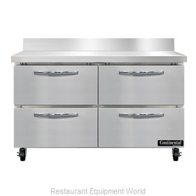 Continental Refrigerator SWF48NBS-D Freezer Counter, Work Top
