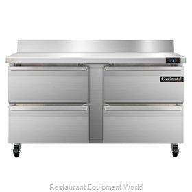 Continental Refrigerator SWF60-BS-D Freezer Counter, Work Top