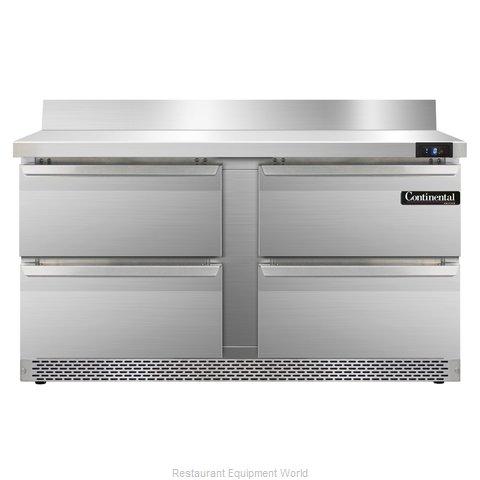 Continental Refrigerator SWF60-BS-FB-D Freezer Counter, Work Top