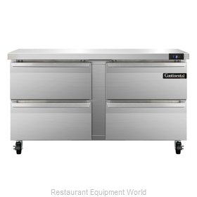 Continental Refrigerator SWF60-D Freezer Counter, Work Top