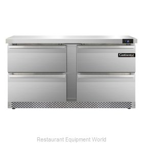 Continental Refrigerator SWF60-FB-D Freezer Counter, Work Top