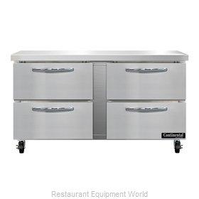 Continental Refrigerator SWF60N-D Freezer Counter, Work Top