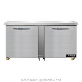 Continental Refrigerator SWF60N-U Freezer, Undercounter, Reach-In