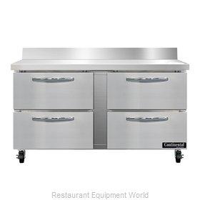 Continental Refrigerator SWF60NBS-D Freezer Counter, Work Top