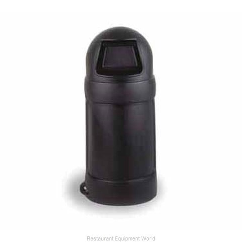 Continental 1307BK Trash Garbage Waste Container Stationary