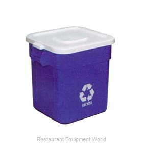 Continental 2801WH Cover, Garbage Waste Receptacle Can