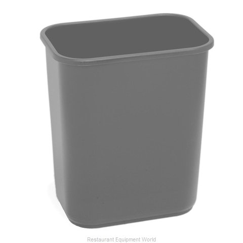 Continental 2818GY Waste Basket, Plastic