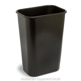 Continental 4114BK Waste Basket, Plastic