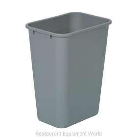 Continental 4114GY Waste Basket, Plastic
