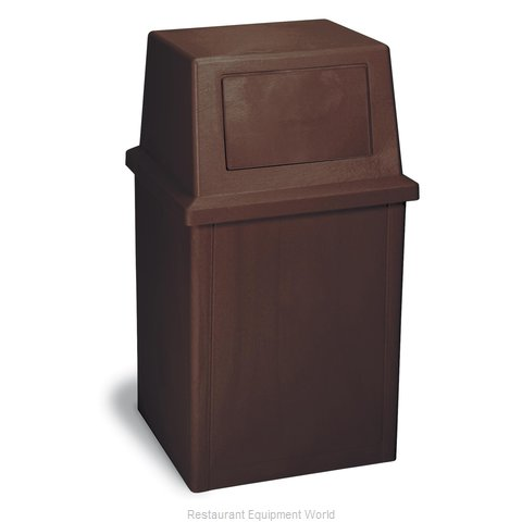 Continental 5735BN Trash Garbage Waste Container Stationary