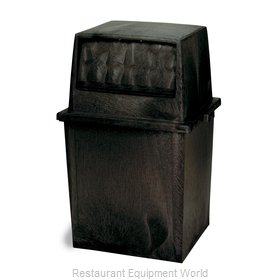 Continental 5750BK Trash Receptacle, Indoor