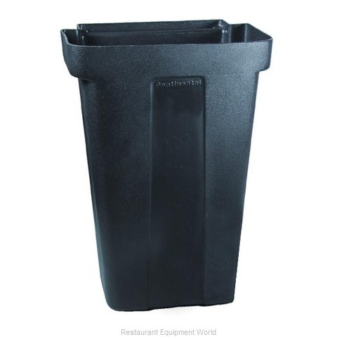 Continental 5812BK Trash Can For Bus Cart