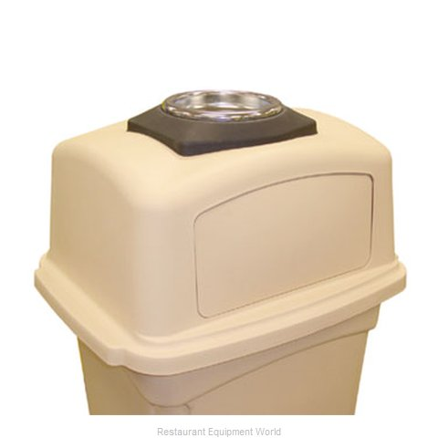 Continental 6458BK Cover Garbage Waste Receptacle Can