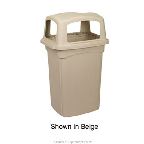 Continental 6562BN Trash Garbage Waste Container Stationary