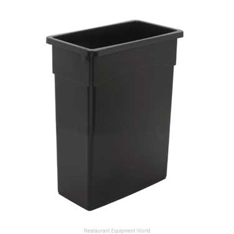 Continental 8316BK Trash Garbage Waste Container Stationary