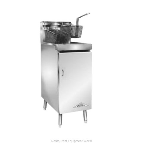 Comstock Castle 10HF Fryer, Gas, Floor Model, Full Pot
